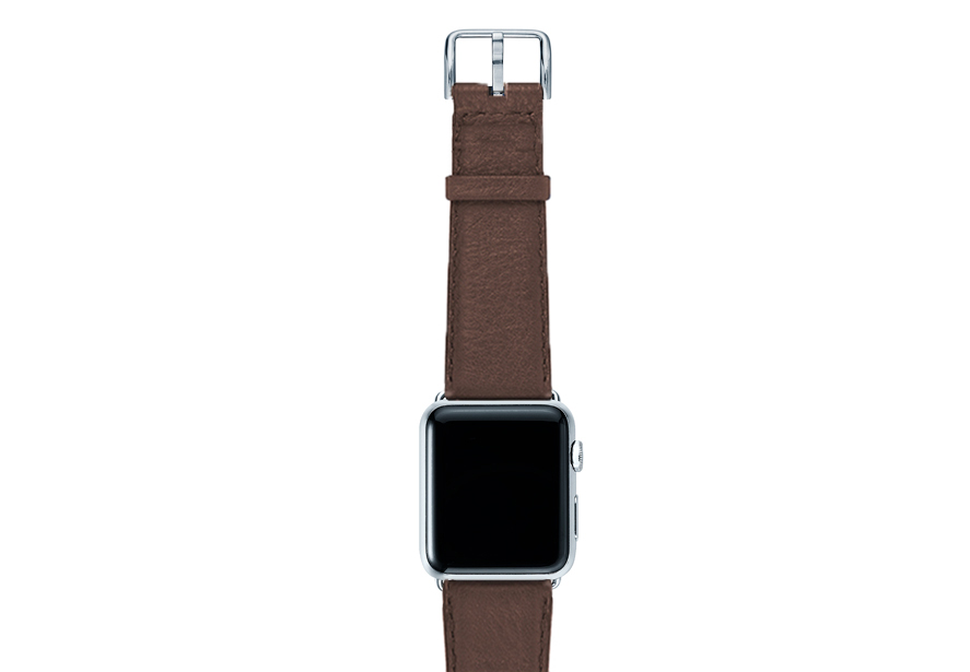 Chestnut-brown-nappa-band-on-top-with-silver-adaptors