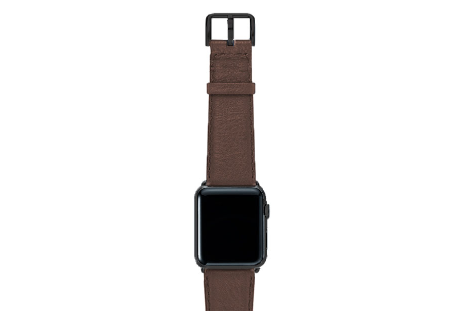 Chestnut-brown-nappa-band-on-top-with-stainless-black-adaptors
