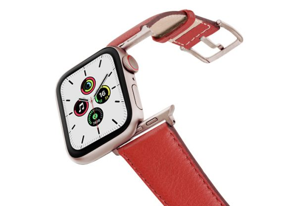 Coral_Nappa_leather-band_aluminium_gold_case_flying