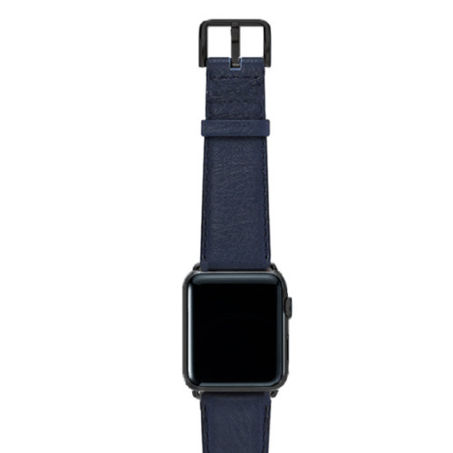 Mediterranean-blue-nappa-band-on-top-with-stainless-black-adaptors