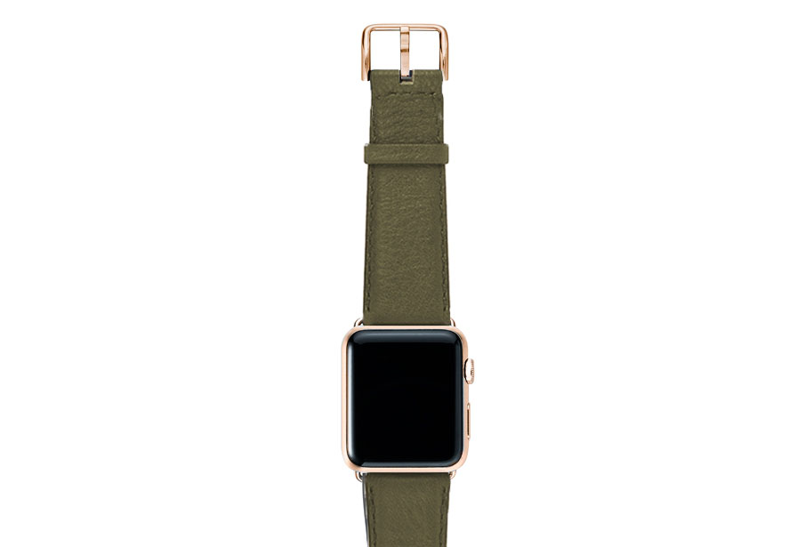 Musk-green-nappa-band-on-top-with-GOLD-SERIES3-adaptors