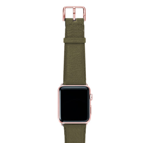 Musk-green-nappa-band-on-top-with-rose-gold-adaptors