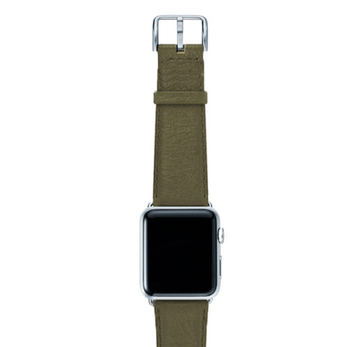 Musk-green-nappa-band-on-top-with-silver-adaptors