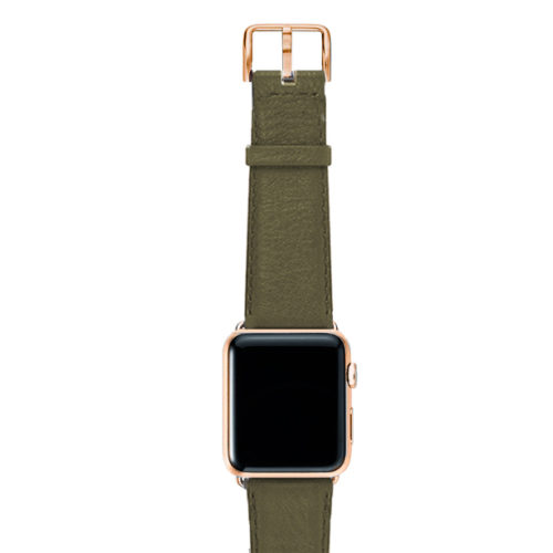 Musk-green-nappa-band-on-top-with-stainless-gold-adaptors