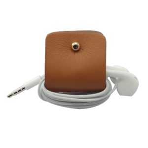 Headphone holder Light-Brown-Up nappa leather made in Italy