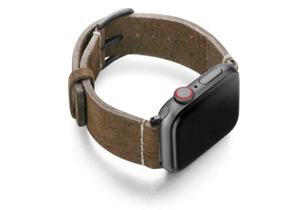 Khaki-Sun-Apple-Watch-heritage-green-leather-band-with-case-on-right