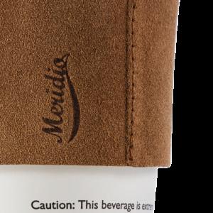 Light brown coffee cup sleeve
