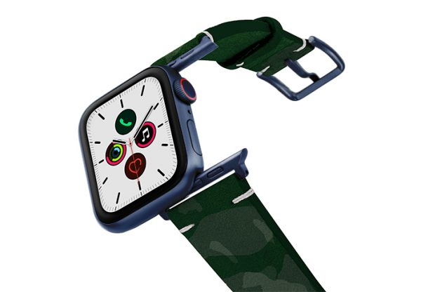 Green-Guerilla-AW-suede-leather-band-with-blue-adapters