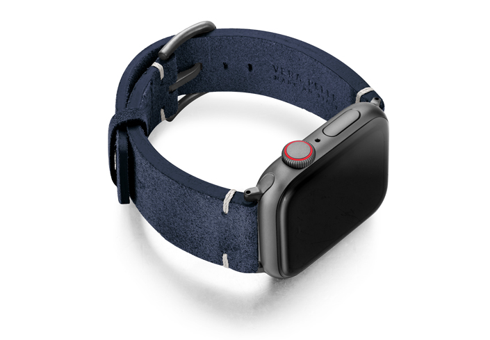 Ocean-Floor-AW-blue-suede-leather-band-with-case-on-right
