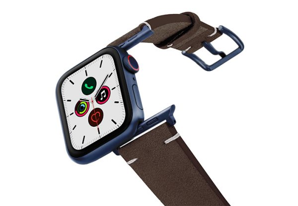 Rich-Mocha-AW-suede-leather-band-with-blue-adapters