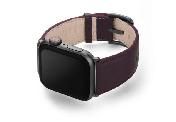 Burgundy-AW-powder-nappa-leatehr-band-with-case-on-left