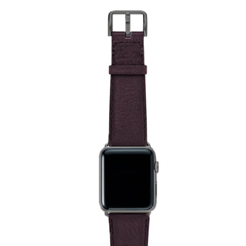 Burgundy-nappa-band-on-top-with-space-grey-adaptors