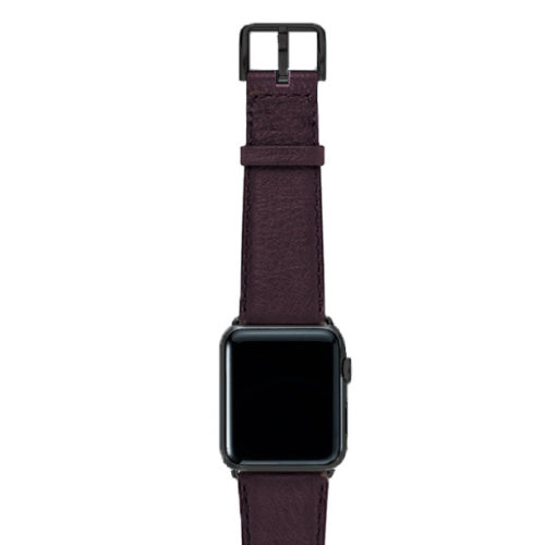 Burgundy-nappa-band-on-top-with-stainless-black-adaptors