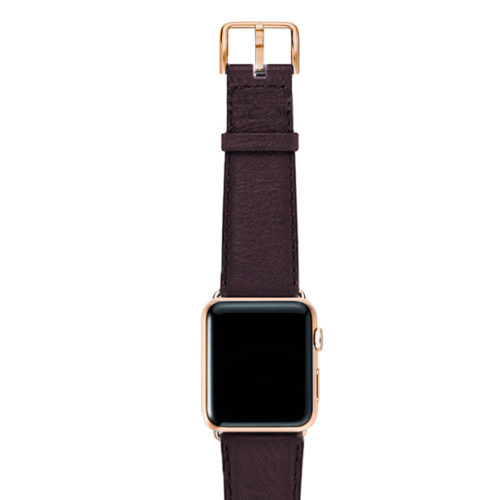 Burgundy-nappa-band-on-top-with-stainless-gold-adaptors