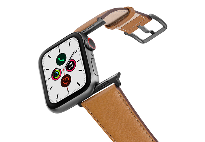 Goldstone-AW-nappa-leather-band-on-air-with-space-grey-adapters