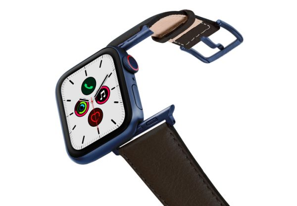 Slate-Brown-AW-nappa-band-on-air-with-blue-adapters