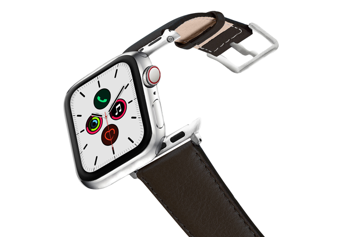 Slate-Brown-AW-nappa-leather-band-stainless-steel-case-on-air