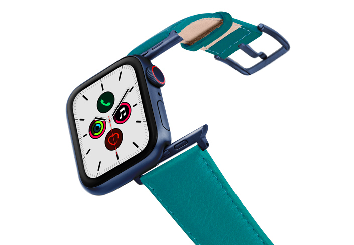 Turquoise-AW-nappa-band-on-air-with-blue-adapters