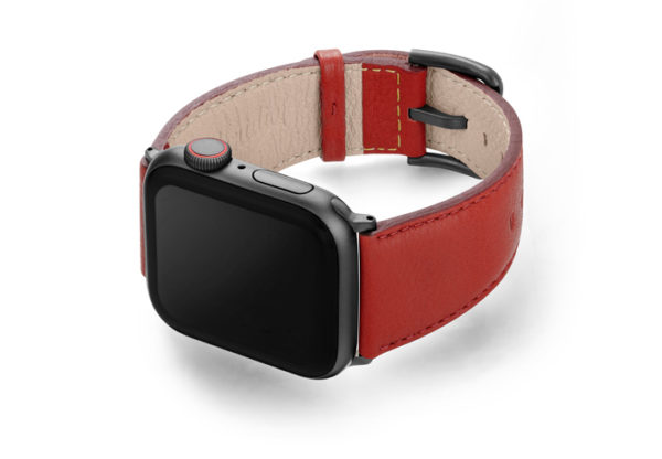 Coral-Apple-watch-nappa-band-with-left-case