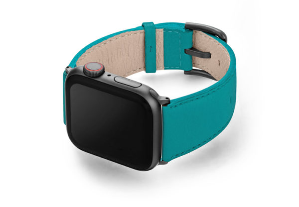 Turquoise-Apple-watch-nappa-band-left-case