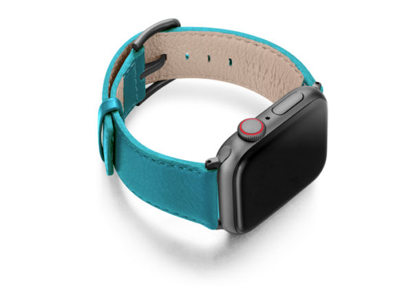 Turquoise-Apple-watch-nappa-band-right-case