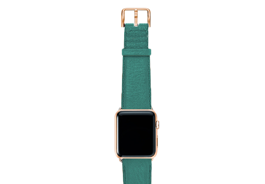 Turquoise-nappa-band-on-top-with-stainless-gold-adaptors