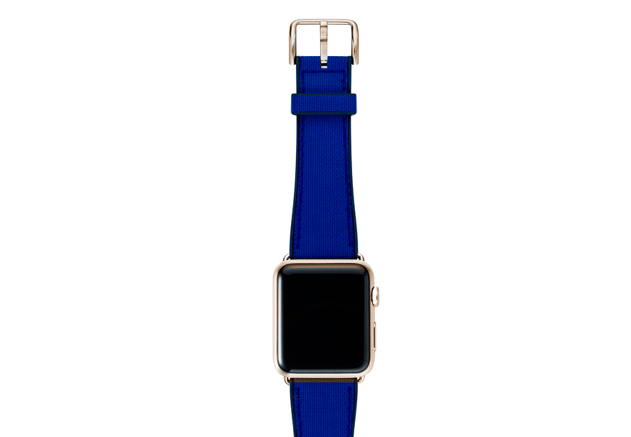 CAOUTCHOUC_blu_band-with-stainless-gold-adaptors