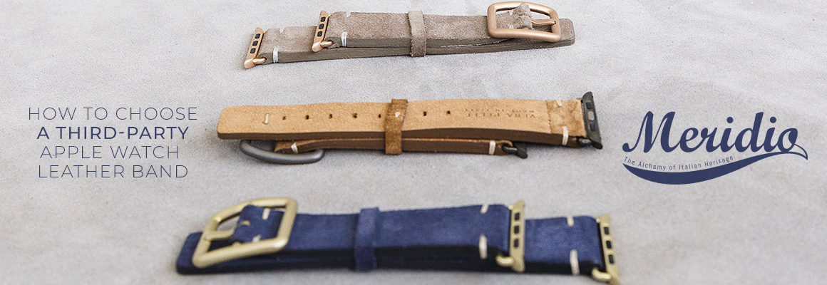 third-party Apple Watch leather band