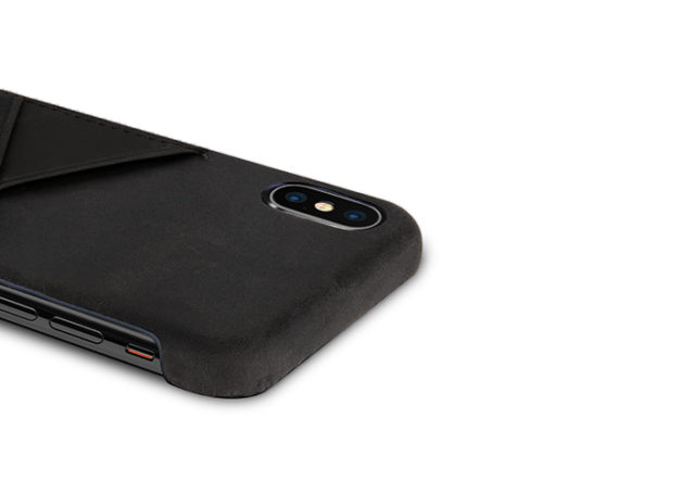 iPhone-X-black-Leather-case-top-side