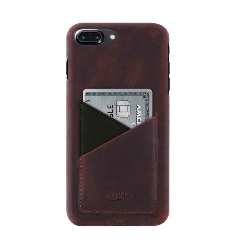 iPhone-8-plus-bordeaux-Leather-case-front-side
