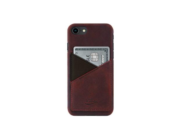 iPhone-8-bordeaux-Leather-case-front-side