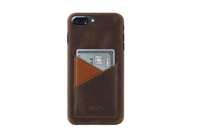 iPhone-7-8-plus-dark-brown-Leather-case-on-front