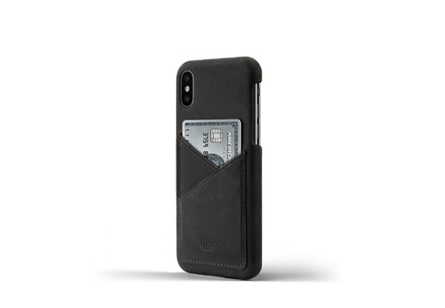 iPhone-X-black-Leather-case-on-side