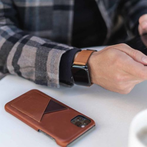 Barrel-and-Tawny-Apple-light-brown-leather-accessories-close-to-a-tablet-Mac-pro