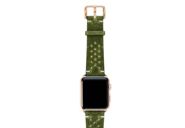 Hope-AW-green-calf-leather-band-with-holes-with-case-stainless-gold