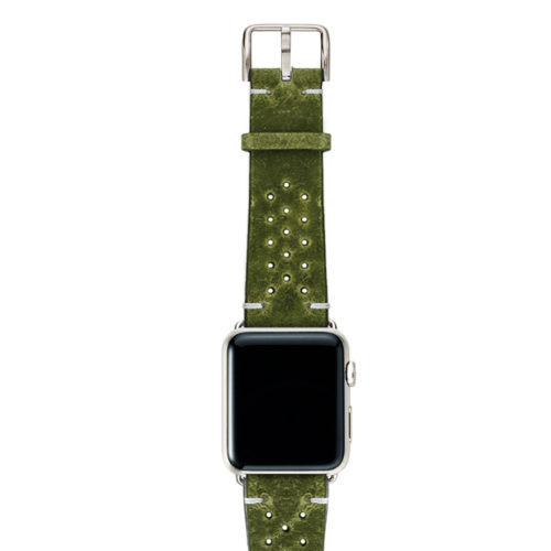 Hope-AW-green-calf-leather-band-with-holes-with-case-stainless-steel