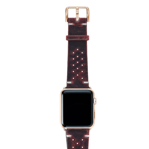 Promise-AW-red-calf-leather-band-with-holes-and-case-gold-series3