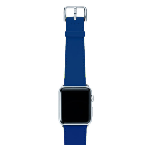 Blueberry-Summer-AW-fluo-blue-nappa-band-with-case-aluminium-silver