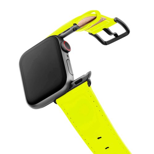laser-lemon-Apple-watch-fluo-band-with-case-on-air