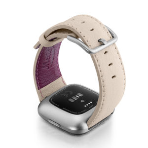 Angel-Whisper-Fitbit-Watch-powder-nappa-leather-band-with-back-case