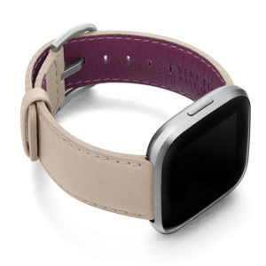 Angel-Whisper-Fitbit-powder-nappa-leather-band-with-case-on-right