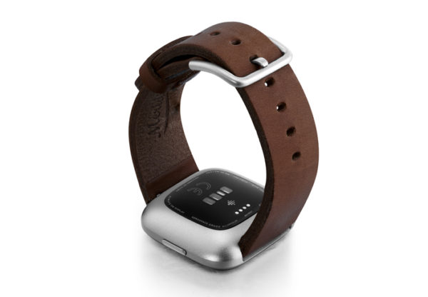 Burnt-Fitbit-Watch-brown-full-grain-leather-band-with-back-case