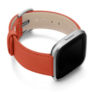 Coral-Fitbit-nappa-band-with-right-case
