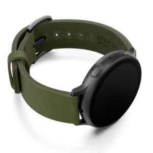Deep-Leaf-Galaxy-watch-active-green-full-grain-leather-band-with-right-case