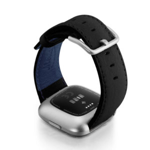 Ink-Fitbit-black-nappa-leather-band-with-back-case