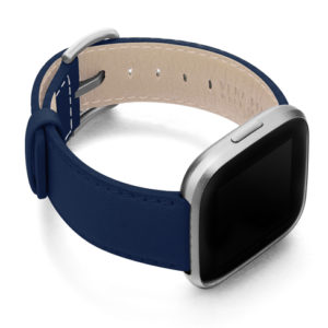 Mediterranean-Blue-Fitbit-nappa-band-with-case-on-right