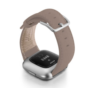 Pottery-Fitbit-nappa-leather-band-with-back-case.