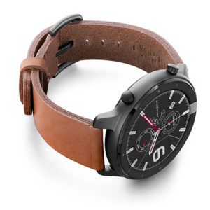Amazfit-GTR-light-brown-full-grain-leather-band-with-case-on-right