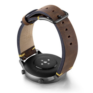 Amazfit-GTR-old-brown-vintage-band-with-display-on-back