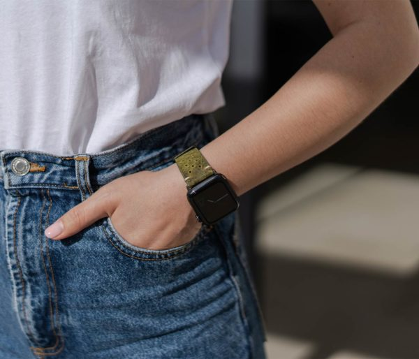 Hope-AW-green-bullet-proof-leather-band-casual-outfit-for-her